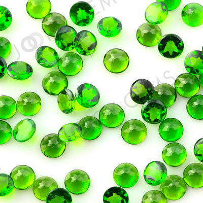 Joopy Gems Chrome Diopside Rose Cut Cabochon 4mm Round