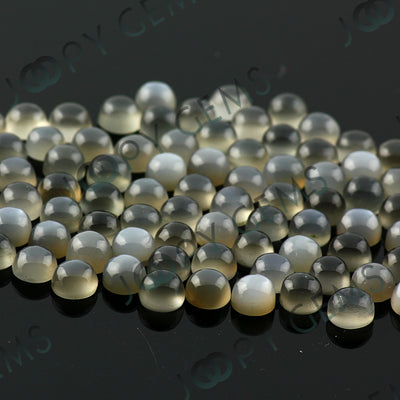 Joopy Gems Grey Moonstone Cabochon 4mm Round