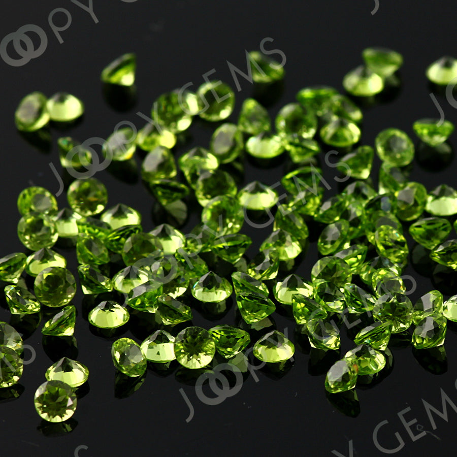 Joopy Gems Peridot Brilliant Cut 4mm Round
