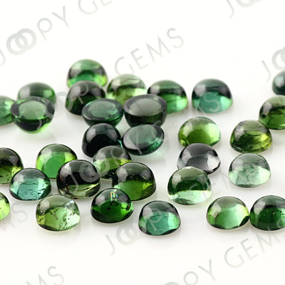 Joopy Gems Dark Blue-Green Tourmaline Cabochon 4mm Round