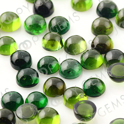 Joopy Gems Dark Green Tourmaline Cabochon 4mm Round