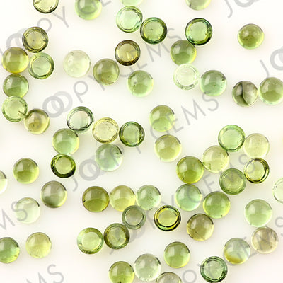 Joopy Gems Light Green Tourmaline Cabochon 4mm Round