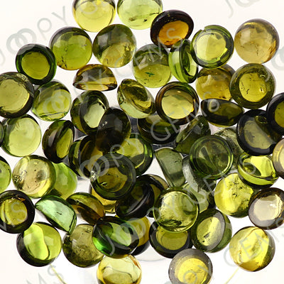 Joopy Gems Yellow-Green Tourmaline Cabochon 4mm Round
