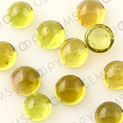 Joopy Gems Yellow Tourmaline Cabochon 4mm Round