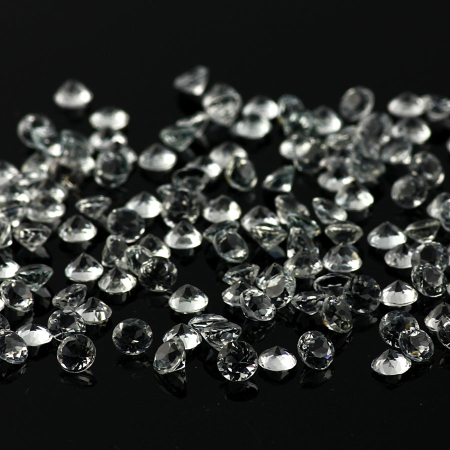 Joopy Gems White Topaz Brilliant Cut 4mm Round