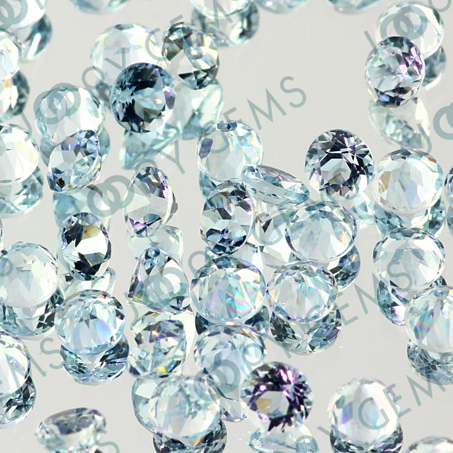 Aquamarine Brilliant Cut 4mm Round
