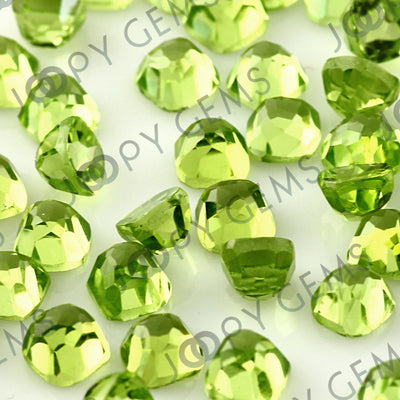 Joopy Gems Peridot Rose Cut Cabochon 4mm Square Cushion