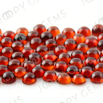 Joopy Gems Hessonite Garnet Cabochon 5mm Round