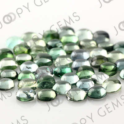 Joopy Gems Light Blue-Green Tourmaline Cabochon 5mm Round