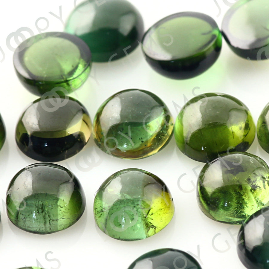 Joopy Gems Dark Green tourmaline Cabochon 5mm Round