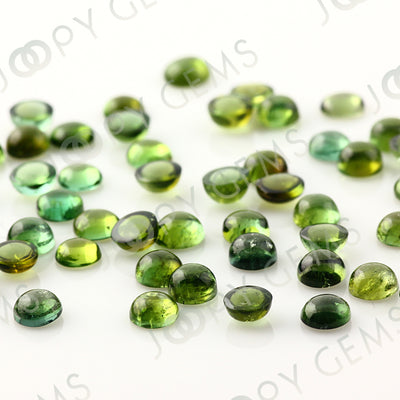 Joopy Gems Green Tourmaline Cabochon 5mm Round