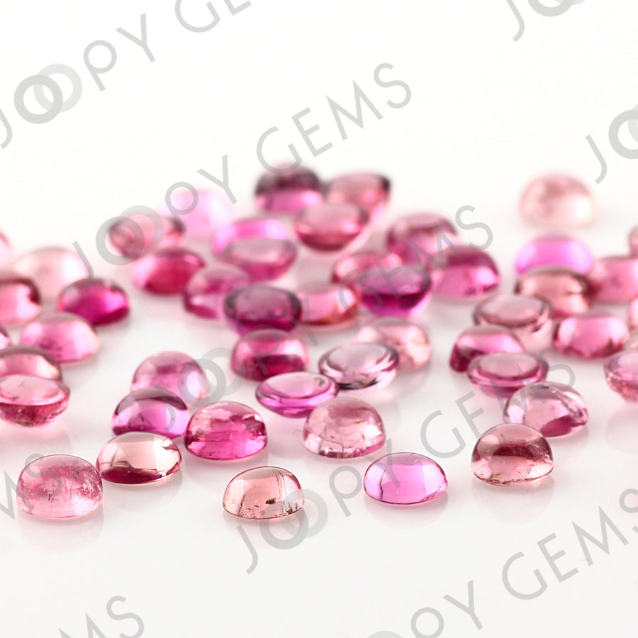Joopy Gems Light Pink Tourmaline Cabochon 5mm Round