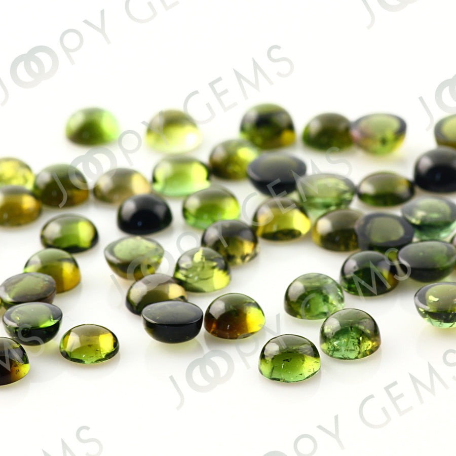 Joopy Gems Yellow-Green Tourmaline Cabochon 5mm Round