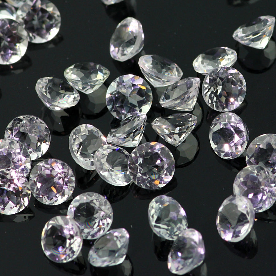 Joopy Gems White Topaz Brilliant Cut 5mm Round