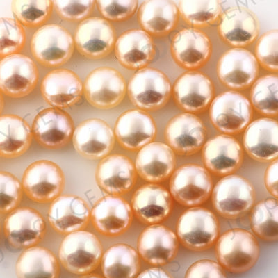 Joopy Gems Pink Cultured Freshwater Pearls Half-Drilled Button 6-6.5mm