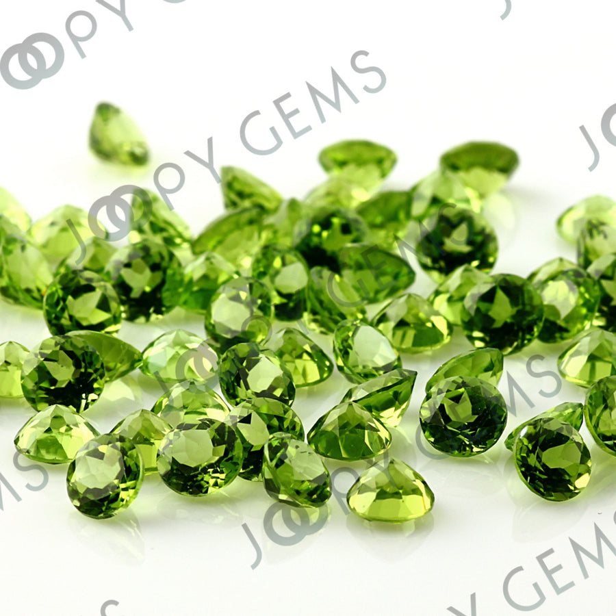 Joopy Gems Peridot Brilliant Cut 6mm Round