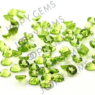 Joopy Gems Peridot Rose Cut Cabochon 6mm Round