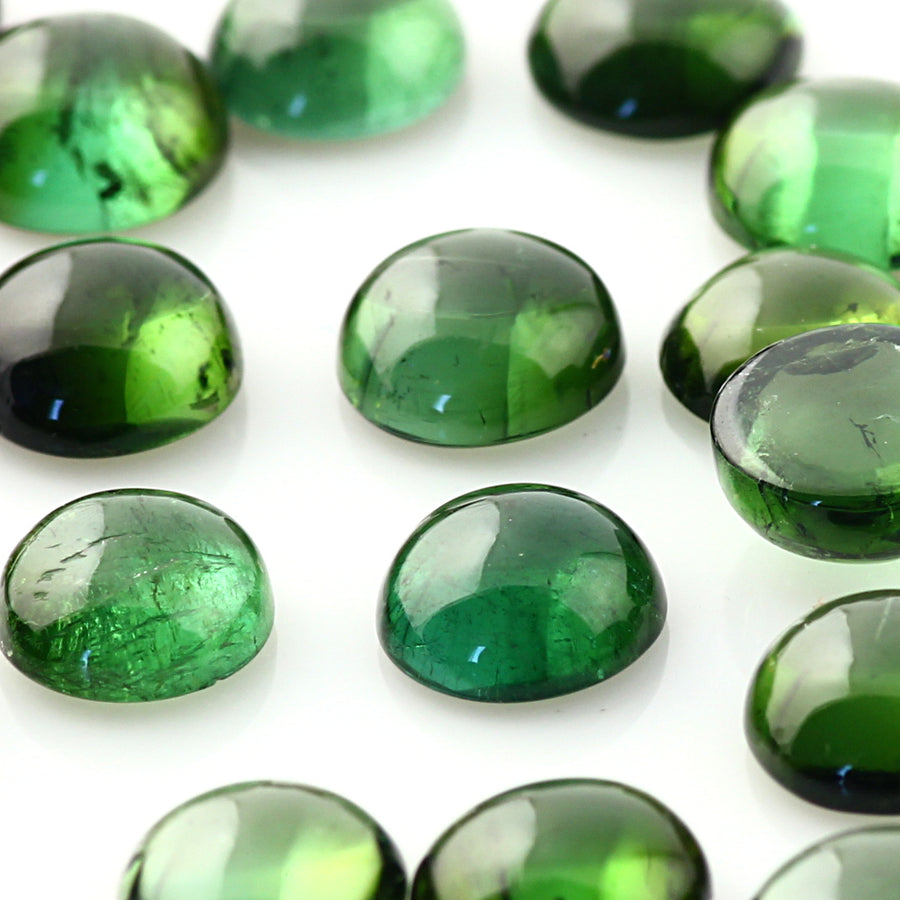 Joopy Gems Dark Green Tourmaline Cabochon 6mm Round