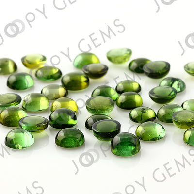 Joopy Gems Green Tourmaline Cabochon 6mm Round