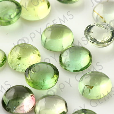 Joopy Gems Light Green Tourmaline Cabochon 6mm Round