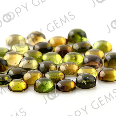 Joopy Gems Yellow-Green Tourmaline Cabochon 6mm Round