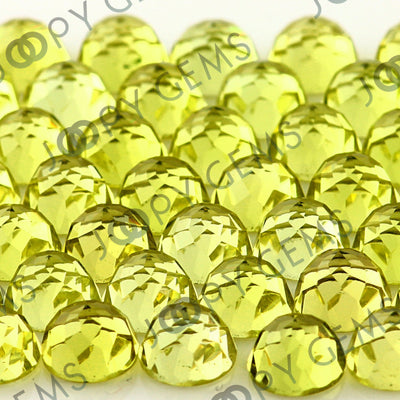 Joopy Gems Lemon Quartz Rose Cut Cabochon 6mm Round
