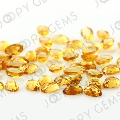 Joopy Gems Citrine Rose Cut Oval Cabochon 6x4mm FLAT BACK