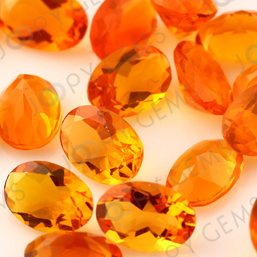 Joopy Gems Fire Opal Mixed Cut Gemstone 6x4mm Oval