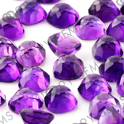 Joopy Gems Amethyst (African) Rose Cut Cabochon 8mm Square Cushion
