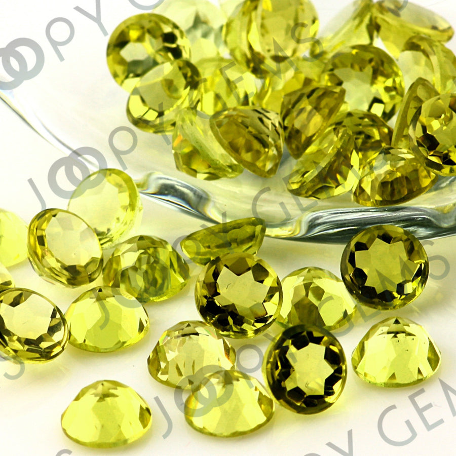 Joopy Gems Lemon Quartz Rose Cut Cabochon 8mm Round