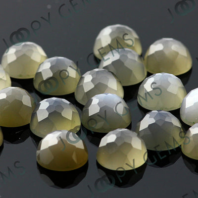 Joopy Gems Grey Moonstone Rose Cut Cabochon 8mm Round
