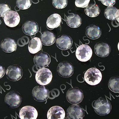 Joopy Gems Rose Quartz Rose Cut Cabochon 8mm Round