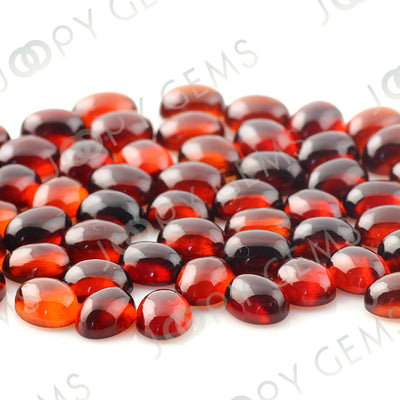 Joopy Gems Hessonite Garnet Cabochon 8x6mm Oval