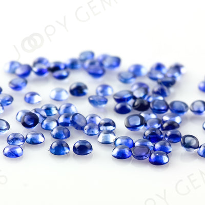 Blue Sapphire Cabochon 2mm Round