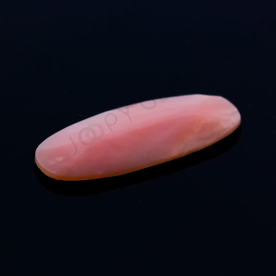 Joopy Gems Pink Opal (medium pink) Rose Cut Freeform 3.810 carats, 20.4 x 11.4 x 2.5mm, CFRPOPD28