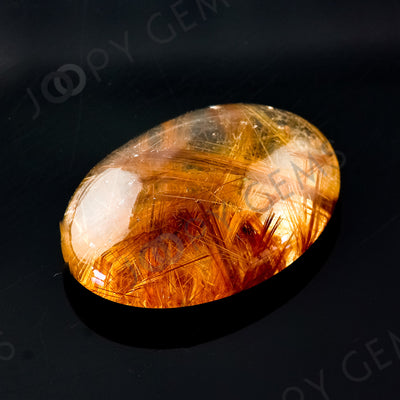 Joopy Gems Golden Rutilated Quartz Cabochon Freesize, 41.975 carats, 29.8x21.5x9.6mm