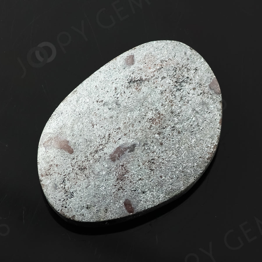Joopy Gems Specularite Freesize Oval Bead/Slice, 112.64 carats, 37.8x26.3x8.2mm, CFRSPEC11