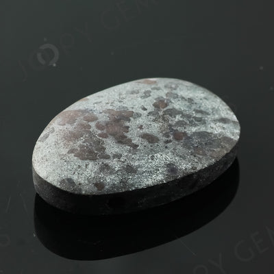 Joopy Gems Specularite Freesize Oval Bead/Slice, 123.055 carats, 37.6x26.8x9.5mm, CFRSPEC5