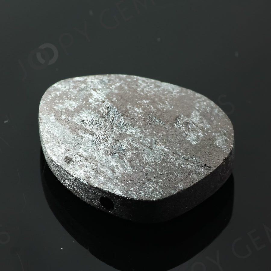 Joopy Gems Specularite Freesize Oval Bead/Slice, 134.85 carats, 36.2x29.1x9.3mm, CFRSPEC4