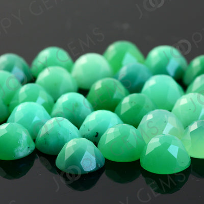 Joopy Gems Chrysoprase Rose Cut Cabochon 10mm Round