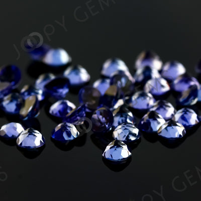 Joopy Gems Tanzanite Rose Cut Cabochon 4mm Round