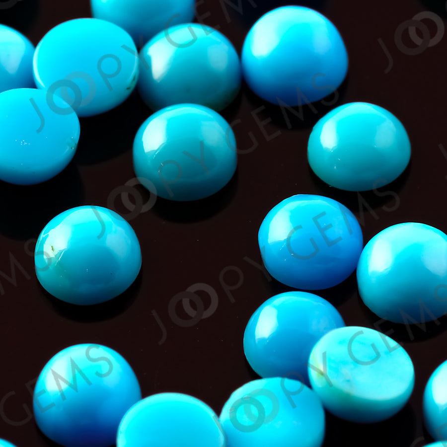 Joopy Gems Turquoise Cabochon 4mm Round