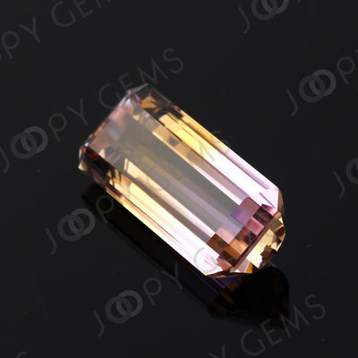 Joopy Gems Ametrine Rectangular Step Cut 16.275 carats, 22.7x10.6x6.8mm
