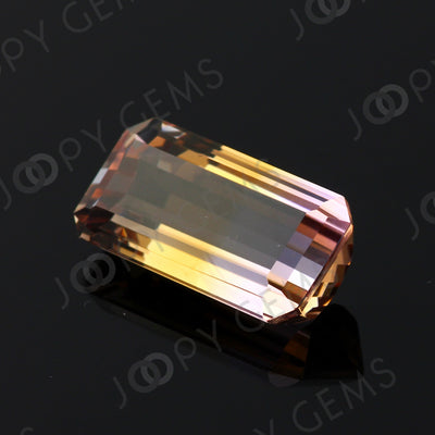 Joopy Gems Ametrine Rectangular Step Cut 16.590 carats, 21x11.6x7.7mm