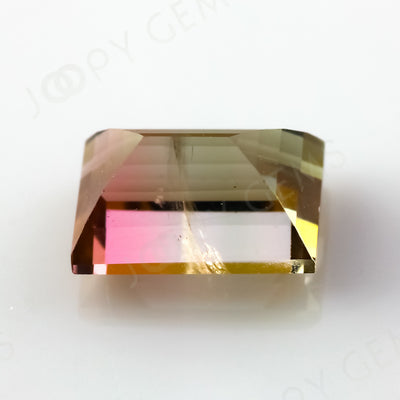 Joopy GemsTourmaline Bi-Colour Baguette, 0.855 carats, 6.3x4.3x3.6mm