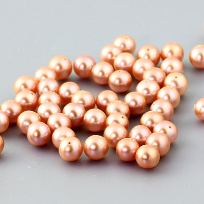 Joopy Gems Pink Cultured Freshwater Round Pearls 6-6.5mm loose