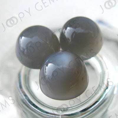 Joopy Gems Grey Moonstone Cabochon 10mm Round