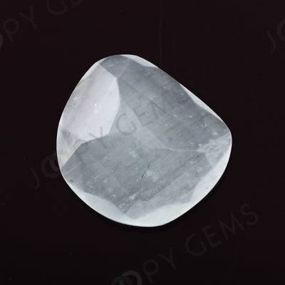 Joopy Gems Aquamarine (Milky) Rose Cut Freeform, 2.795 carats, 11.5x10.3x3.4mm