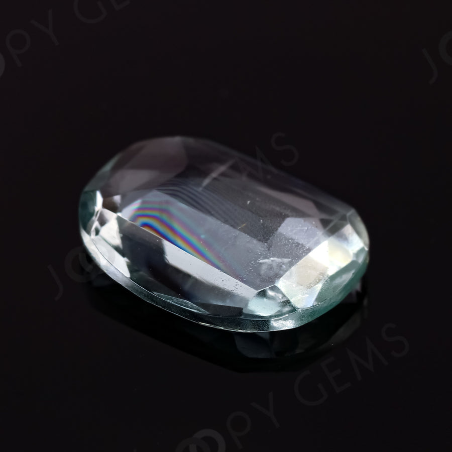 Joopy Gems Aquamarine (Clean) Rose Cut Freeform, 2.27 carats, 11.6x8.5x3.1mm
