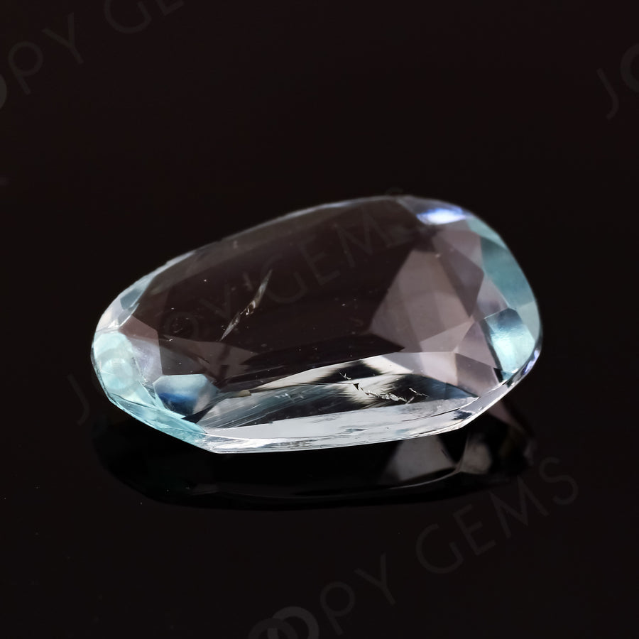 Joopy Gems Aquamarine (Clean) Rose Cut Freeform, 2.25 carats, 12.7x8.6x2.2mm